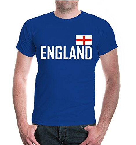 T-Shirt England-M-Royal-