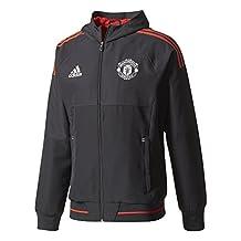 2017-2018 Man Utd Adidas UCL Presentation Jacket (Black)
