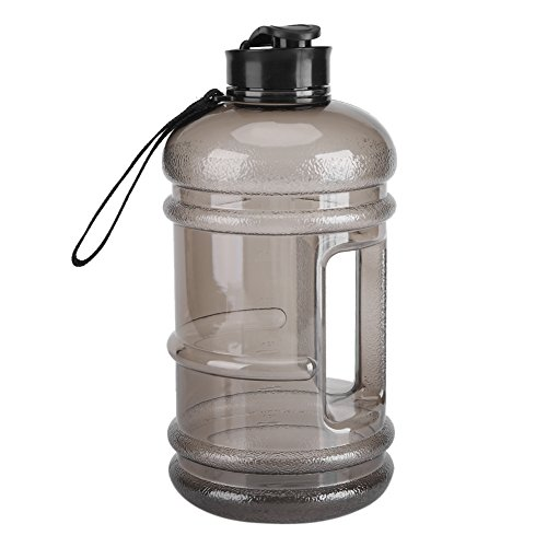 2.2L Large Capacity Sports Water Bottle Gym Drinking Water Bottle Camping Cup Portable Outdoor Big Bottle (Black )