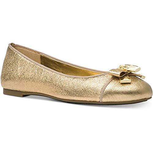 Michael Kors Women's Alice Ballet Sparkle Metallic Gold Size 7 M