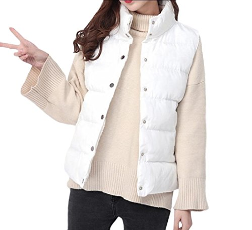 数学大きなスケールで見るとエクステントAngelSpace 女性のカジュアルな純色スタンドカラーの野生の綿のジャケット?ベスト