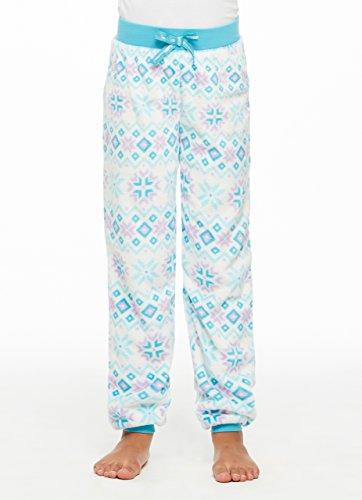 Jellifish Kids Pajamas Girls Dreamy Fleece Sleep Pant,White Fairisle,Medium