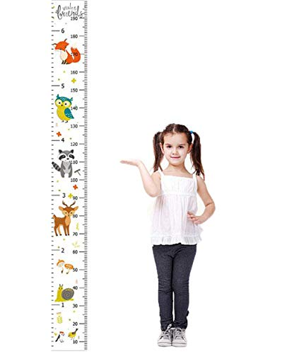 Kids Height Growth Chart Cartoon Animal Pattern Baby Toddler Removable Height Measuring Handing Ruler Wall Hanging Decorations (Color 5)