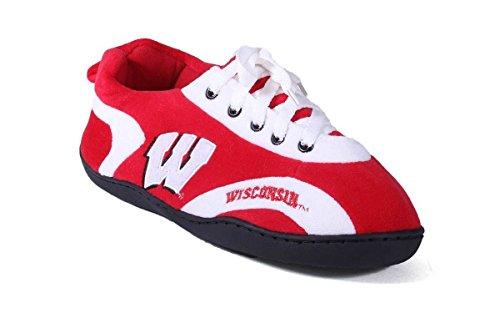 Happy Feet Menns Og Kvinners Ncaa College Hele Slippers Wisconsin Grevlinger