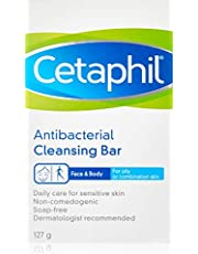 Cetaphil Antibacterial Cleansing Bar, 127g