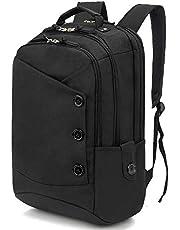 Travel Laptop Backpack 15.6 Inch Laptop Backpack, Large Capacity Casual Daypack Travel Computer Bag for Women & Men Black KINGSLONG