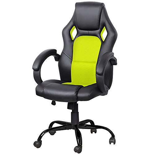 Tek Widget High Back Race Car Style Bucket Office Gaming Chair (Lime Green) Review