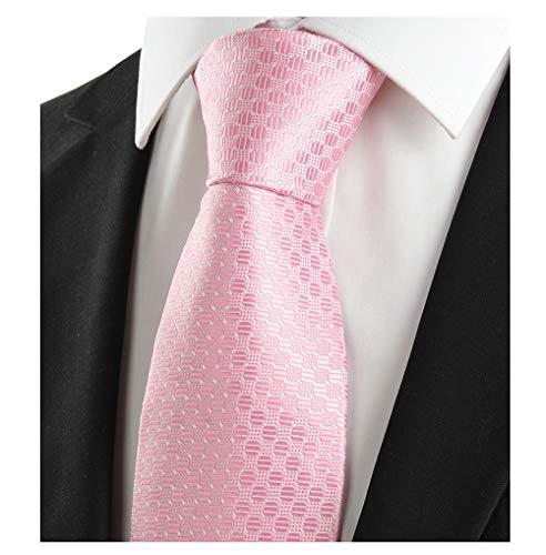 L04BABY Men's Classic Wedding Jacquard Woven Silk Microfiber Formal Tie Necktie