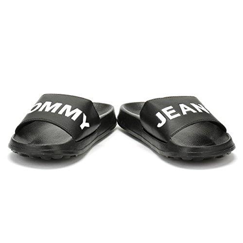 Tommy Noir Hilfiger Jeans Femmes Slides Tommy Pool q8zpwB1