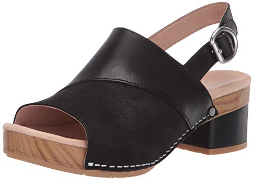 Dansko Women's Madalyn Sandal, Black Burnished Calf, 40 M EU (9.5-10 US)