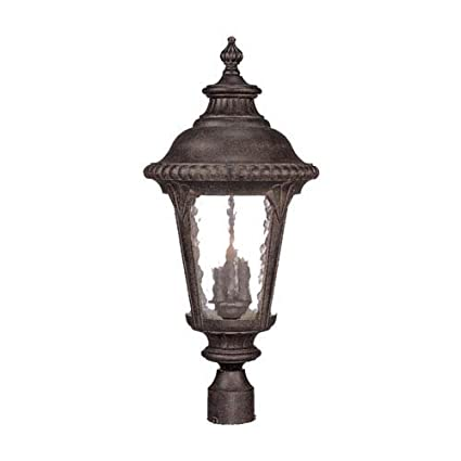 Acclaim 7227bc Surrey Collection 3 Light Post Mount Outdoor Light Fixture Black Coral