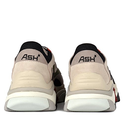Ash Addict Grey Leather & Mesh Chunky Trainers Grey/Red view how much sale online Inexpensive cheap online clearance high quality adsuMHU