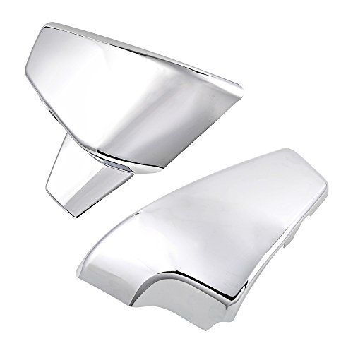 2pcs Chrome Battery Side Cover For Honda 1999-2007 VT 600 Shadow VLX Deluxe 1999-2008 VLX 600