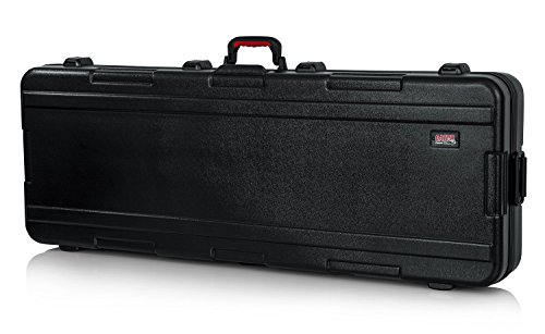 Gator Cases Molded Flight Case for 76-Note Keyboards with TSA Approved Locking Latches and Recessed Wheels; (GTSA-KEY76)