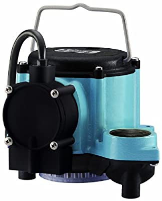 Little Giant 6-CIA 12393 1/3 HP Automatic Sump Pump, 2760 GPH, Blue