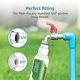 AQUA CREST Garden Hose Water Filter, Compatible