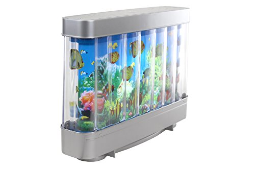 Elegant Lighted Virtual Moving Fish Tank Picture Decor