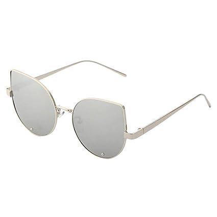 daa920c840 Pausseo Fashion Unisex Womens Mens Steampunk Round Frame Polarized Aviator  Mirrored Lens Sunglasses Summer Sports Running