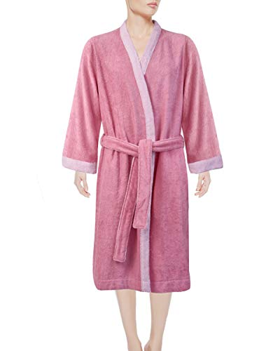 Armani International Women's Kimono Robe Slippers Large Peony-Misty Pink (Women Armani Slippers)