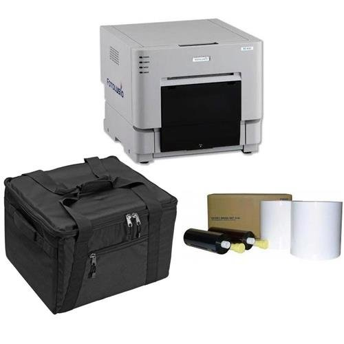 DNP DS-RX1HS 6'' Dye Sublimation Printer, 290 4x6'' Prints Per Hour - BUNDLE - with 4x6'' Media, 700 Prints Per Roll, 2 Rolls and Protective Carrying Case by DNP