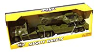 Mighty Wheels Army Trailer Truck with Helicopter