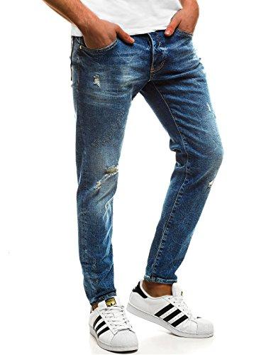 OZONEE Hombre Pantalones Vaqueros Pantalón Chándal Pantalones Deportivos Pantalones de Ocio Pantalón chándal Jogger Otantik 1805 Vaqueros _ Ozonee B/8017