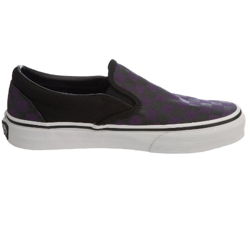 Black Adulto On Morado Unisex Gothic Zapatillas Slip Checkerboard Classic Vans Grape zPwgP