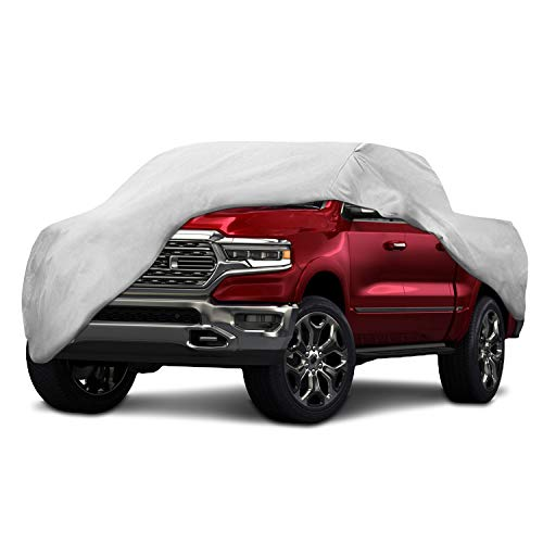 (Motor Trend T-800 Weatherproof for 2013-2019 Ram 1500 Crew/Quad Cab Custom Fit Truck Cover (Outdoor Use UV Protection Waterproof))