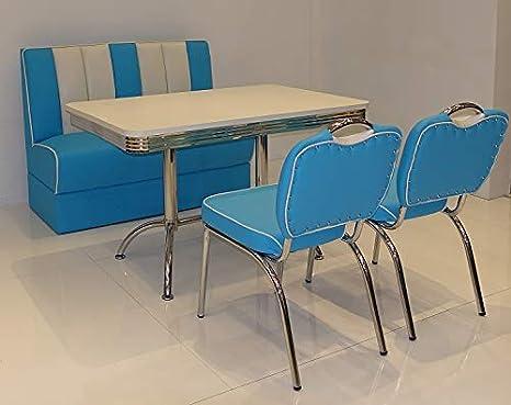 moebelstore24 Sitzgruppe American Diner Vegas/Paul/King 4 ...