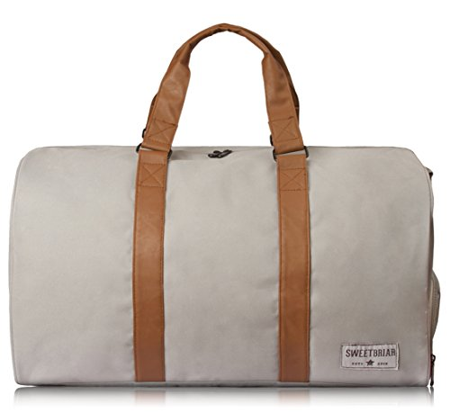 sweetbriar-duffel-duffle-bag-classic-weekender-with-shoe-compartment-gray
