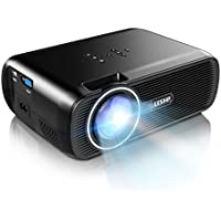 1500 Lumens LCD Mini Projector,LESHP LED Video Projector Home Projector with Free HDMI Support 1080P for Home Cinema Theater TV Laptop Game SD iPad iPhone Android Smartphone,Black