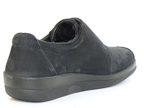 Longo Women Flat Slipper G Black, (Schwarz) 1005300