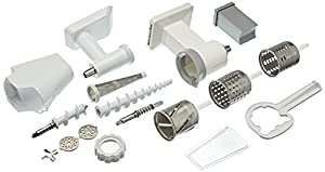 kitchenaid mixer attachments slicer. kitchenaid fppc mixer attachment pack (grinder/ mincer, slicer/ shredder, fruit and vegetable strainer) - silver kitchenaid attachments slicer i