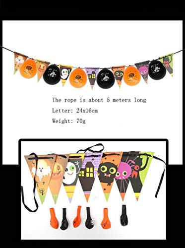 Halloween Hanging - Halloween Hanging Party Decoration Ornaments Diy Pull String Flag Coin Paper Bunting Banner Balloon - Scary Swirls Torso Prop Indoor Reapers Swiris Plug Lights -