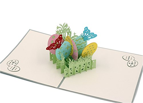 IShareCards Handmade 3D Pop Up Happy Easter Greeting Cards (Easter Egg)
