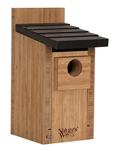 (Nature's Way Bird Products CWH3 Cedar Bluebird Box House, 12'' X 7.5'' X 8.125'', Dark Wood)