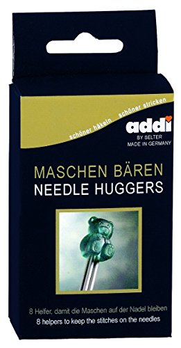 addi Knitting Needle Teddy Bear Needle Huggers Point Protectors Set of 8