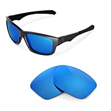Walleva Replacement Lenses for Oakley Jupiter Squared Sunglasses - Multiple Options (Ice Blue)