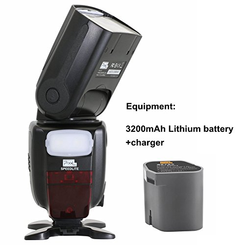 PIXEL X900C 1/8000s HSS TTL FSK2.4GHz Wireless Control Flash Speedlite Master/Slave, S1/S2+ Lithium Battery for Canon Cameras