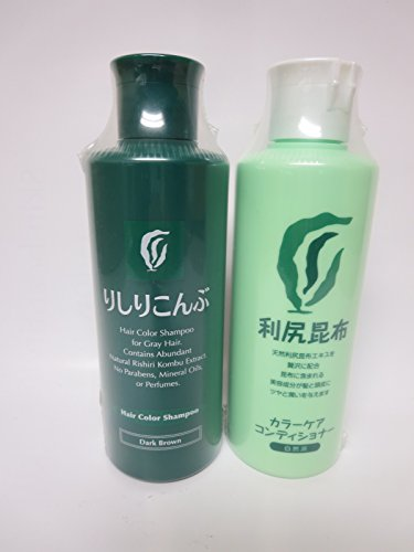 Rishiri Color Shampoo (Dark Brown) & Color Conditioner Set by Rishiri