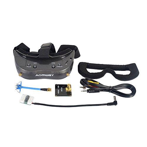 Aomway Commander V2 Diversity 3D 64CH 45 Degree FOV 5.8G FPV Goggles w/DVR Support HDMI