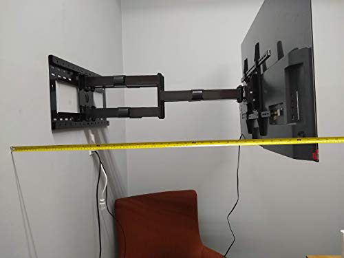Dual Arm 36 Extension Articulating TV Wall Mount 55 to 82 with 16-24 Stud Support, 150 lbs Load for Samsung LG