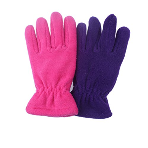 2Pairs Kids Boy Girl Thicken Fleece 45g For Extremely Cold Winter Gloves - Childrens Fleece Gloves
