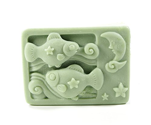 Longzang Constellation Mould Craft Art Silicone Soap Mold Craft Molds DIY Handmade Candle Molds (Pisces)