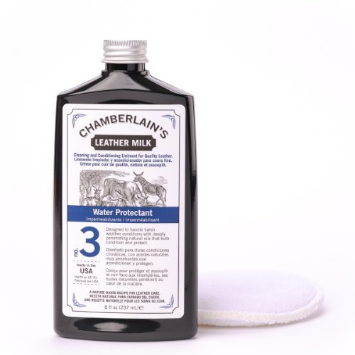 Leather Milk Water Protectant No. 3 - Water Protectant With With A Premium Consistency That Will Make Your Leather Look Like New Again - Protect From Water With No Chemical Smell - Made In The USA With A 100% Money Back Guarantee - 8 fl. oz.