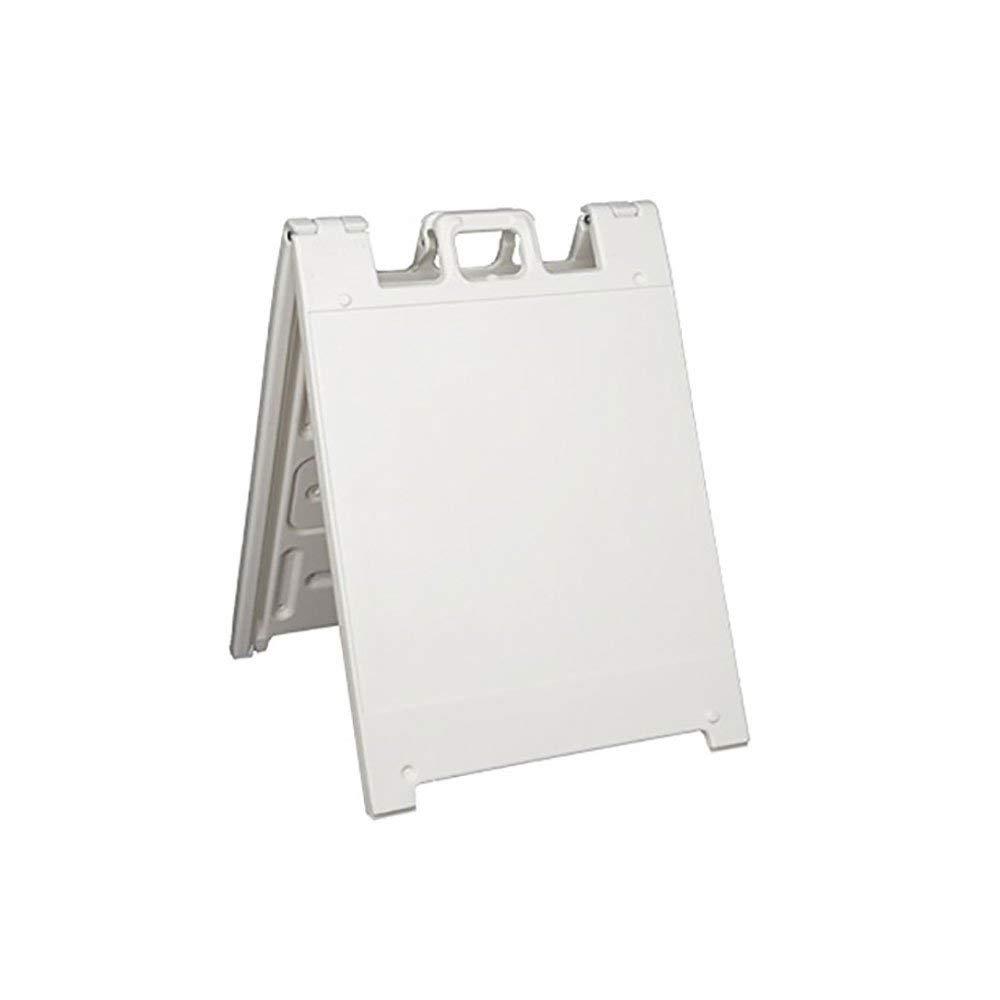 Plasticade Squarecade 36 Portable Folding A-Frame Sidewalk Sign - White