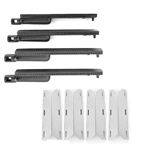 (Grill Parts Zone Repair Kit for Costco Kirkland SKU681955 Gas Barbecue Includes 3 Cast-Iron Burners and 3 Stainless Heat Plates)