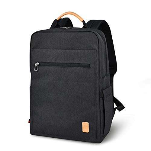 Laptop Backpack, Travel Backpack, Slim Business Durable Casual Anti Theft Waterproof Lightweight Computer Backpack College Backpacks Fits 13/15.6 Inch Laptop for Women and Men College Student (Black) -