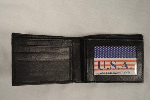 12 Misc Pack Men'S Men'S Bi Leather Fold Leather Wallet Bi Black Fold qqvwzFP