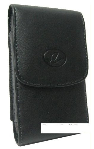 Black Vertical Leather Carrying Case Hip Holster Pouch Cover with Rotating Clip for Asus E600 - TracFone LG 840g - LG840g - Straight Talk LG Optimus Logic - Sprint Kyocera DuraXT E4277 - DuraMax - Dura XT - Max - ATT Samsung Rugby A837 - Rugby 2 A847 - Ve